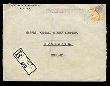 Malta kg5 1935 registrado Solo 4 1/2 D... CACHIA + Galea a Rochdale