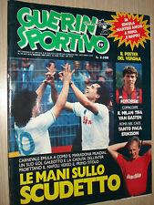 GUERIN SPORTIVO N°19 MAGGIO 1987 NAPOLI LE MANI SULLO SCUDETTO VAN BASTEN ROMA