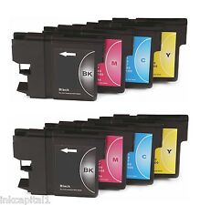 8x LC1100 Cartouches D'encre Non-FEO Alternative Pour Brother MFC-990CW,MFC990CW