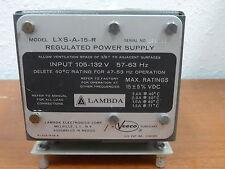 LAMBDA 15 VDC REGULATED POWER SUPPLY MODEL LXS-A-15-R