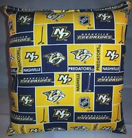 Predators Pillow Nashville Predators Pillow NHL Handmade in USA