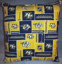 Predators Pillow Nashville Predators Pillow NHL Handmade in USA