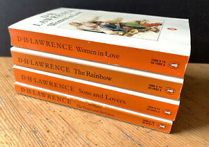 4 x D.H. Lawrence Penguin Paperback Books - Sons & Lovers, St Mawr, The Rainbow