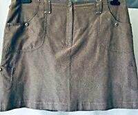 Jamie Sadock Women Skirt Build in Shorts Size 16 Brown Tennis Golf 5 Pockets