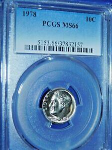 1978 10C Roosevelt Dime-PCGS MS66--509-1