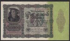 Reichsbanknote -  50000 50.000 Mark 1922 Ros. 78  Pick 80 VF   (19652
