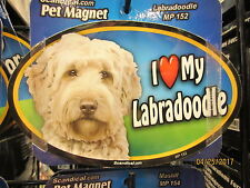I Love My Labradoodle 6 inch oval magnet for car or anything metal  New