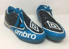 Umbro Astro Turf Sport Training Football Boots Black Blue Lace Shoes Size 11 UK