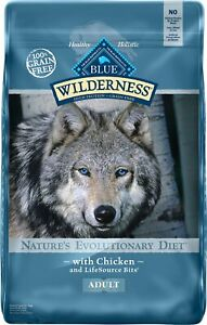 Blue Buffalo Wilderness Chicken Recipe Grain-Free Dry Dog Food 24-lb bag