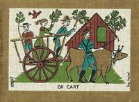 ROBERT DARR WERT Vintage 1950s-60s Folk COUNTRY PRINT Serigraph on Linen OX CART