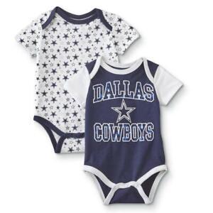 Dallas Cowboys NFL Infant Boy's 2-Pack Short-Sleeve Bodysuits, 6 Months - NWT
