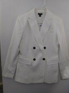 Ann Taylor Factory Ecru Double Breasted Jacket Blazer Women's sz 2 NWT 526406