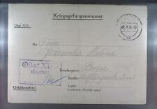 Camp Oflag XIB Braunschweig 1940 POW Prisoner of War Kriegsgefangenenpost (L9)