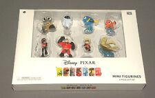 Disney Pixar Mini Figurines 8 Piece Gift Set w Wall-E, Nemo, Mr. Incredible, Eve