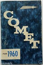 """COMET FOR 1960""  Lincoln-Mercury Owner's Manual...Best Price on ebay..."