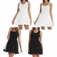 Women Underdress Vest/Spaghetti Strap Full Slip 50s Vintage Petticoat Underskirt