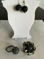 Black Clusters Jewelry Lot