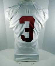 2009-15 Alabama Crimson Tide #3 Game Used White Jersey BAMA00146