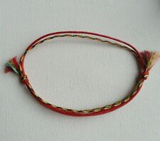 LUCKY 2 in1 Red Multicolour Cord Bracelet with tassels, Kabbalah