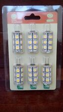 NEW Six 6 LED JC G4 Bi Pin 12V 18 SMD 5050 Tower Landscape Lighting Light Bulb
