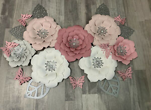 Nursery Flowers Decor. Paper Flowers Decor. Hanmade Paper Flower