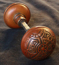 6 avail Pair Antique Eastlake Ceylon SOLID Bronze Door Knob Doorknob Handle Pull