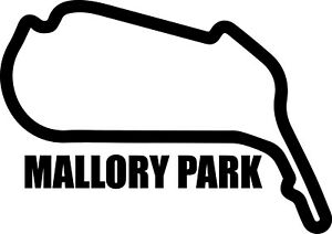 MALLORY PARK RACE CIRCUIT. Car vinyl sticker F1 British Grand Prix Formula One