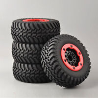 RC 4Pcs 1:10 Short Course Truck Tire&BeadLock Wheel Rims For TRAXXAS Slash Car