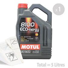 Car Engine Oil Service Kit / Pack 5 LITRES Motul 8100 Eco-nergy 5W-30 5L