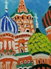 """Original oil painting Moscow without frame  size 9x7"""" (24x18cm)  canvas board"""