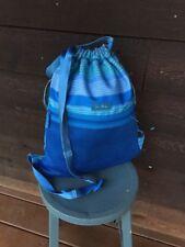 vera bradley Lighten Up Backpack Back Pack Blue Stripe Poly