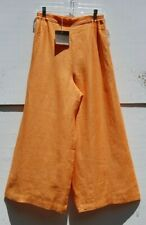 NWT Eskandar MANGO Herring Bone Linen Wide Leg Gaucho Pant (0) $450
