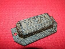 Ornate Industrial Tool Grain Parts Bin Drawer Handle Pull Cast Iron Cabinet