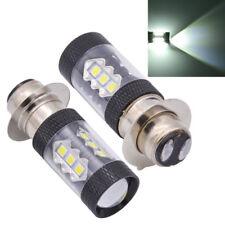 High Power P15D Motorcycle LED Headlight Fog Light Lamp Bulb Projector 6500K 2x