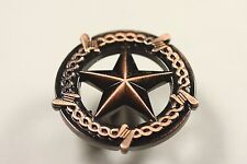 Genial Star With Barbwire Knob Antique Copper Western Cabinet Hardware Drawer Pulls