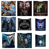 Gothic Fantashy Throw Fleece Blanket By Anne Stokes Lisa Parker James Ryman Gift