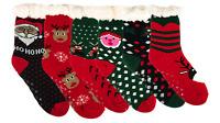 1 Pair Christmas Novelty Cozy Plush Non-Skid Comfortable Slipper Socks X-mas