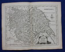 Original antique county map YORKSHIRE, J.Ellis, c.1765