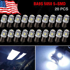 20 X BA9S Cool White 7000K T4W 3886X H6W 363 T11 5050 5-SMD LED Light Lamps US