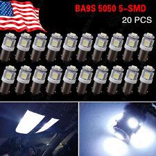 20 X BA9S Cool White 7000K T4W 3886X H6W 363 T11 5050 5-SMD LED Light Lamps US