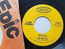 "THE HOLLIES - Long Dark Road / Indian Girl 1972 EPIC 7"" Allan Clarke ROCK"