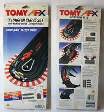 """VERY RARE VINTAGE 80'S TOMY AFX 3"""" HAIRPIN CURVE SET W/ STRAIGHT TRACKS NEW NOS!"""