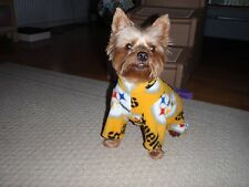 Pittsburgh Steelers Black OR Gold Tossed Print Fleece Dog Coat