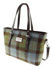 Donna Autentico Harris Tweed Tote Bag con tracolla Gunn Tartan col 15