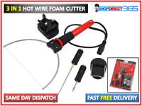 3-in-1 Hot Wire Electric Foam Cutter Styrofoam Polystyrene Cutting Tool Set 4543
