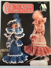 Victorian Fashion Dolls Crochet Gowns Dress Outfits Patterns Annie's Attic NEW
