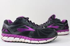 Brooks ARIEL 16 Womens 10 (D) Wide Gray Purple Running Athletic Shoes $170