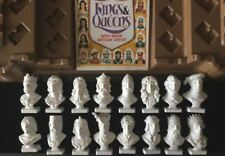CLEVELAND PETROL KINGS & QUEENS BUSTS WHO MADE ENGLAND GREAT SET OF 16 & STAND