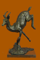Handmade Bronze Sculpture deer Stag Hot Cast Wildlife Statue Figurine Art