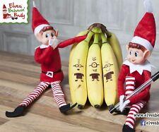 2 x Christmas Gift Sitting Plush Boy Elfie Elf Teddy Stocking Filler Shelf Toys